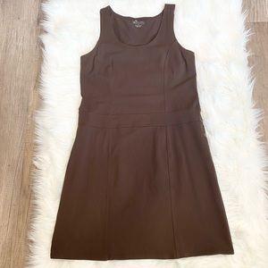 Athleta Sleeveless Brown Sheath Dress Medium